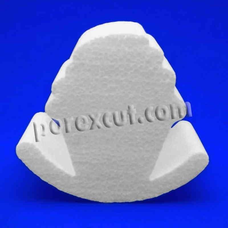 Cupcake balancin de porexpan poliespan corcho blanco