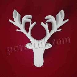 Cabeza de reno de porexpan poliespan corcho blanco