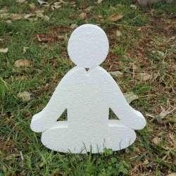 Meditacion de porexpan poliespan corcho blanco