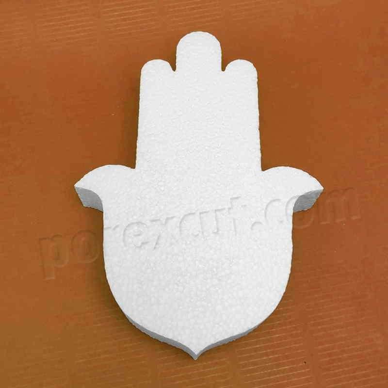 Mano de Fatima de porexpan poliespan corcho blanco