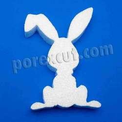 Conejo sentado de porexpan poliespan corcho blanco