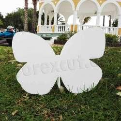 Mariposa de porexpan poliespan corcho blanco