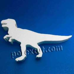 Dinosaurio de porexpan poliespan corcho blanco