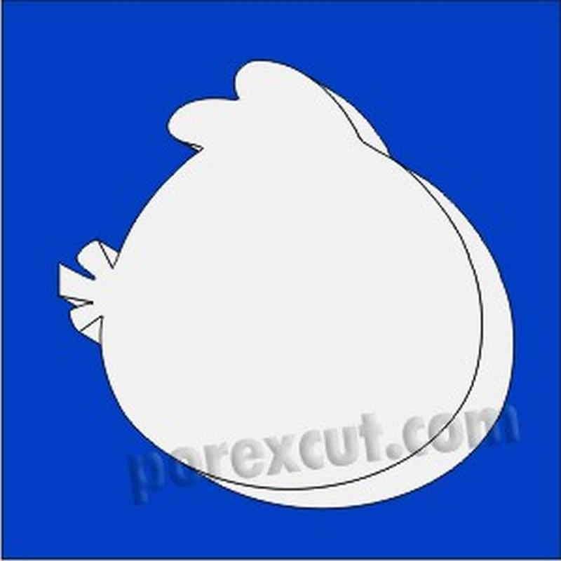 pajaro angry bird de porexpan poliespan corcho blanco