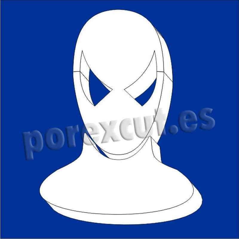 hombre araña spiderman de porexpan poliespan corcho blanco