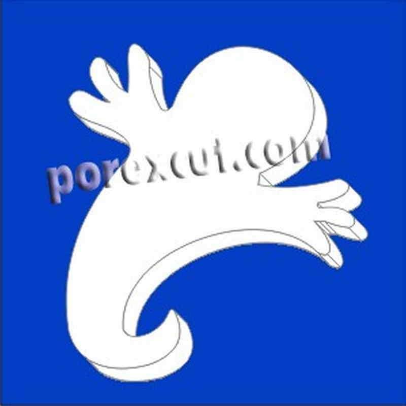 fantasma de porexpan poliespan corcho blanco