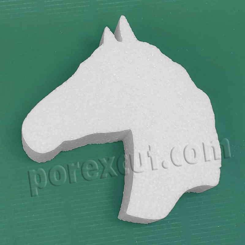 cabeza caballo de porexpan poliespan corcho blanco