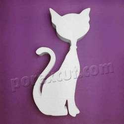 gato de porexpan poliespan corcho blanco