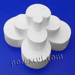 trebol 4 petalos de porexpan poliespan corcho blanco