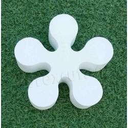 flor hippie de porexpan poliespan corcho blanco