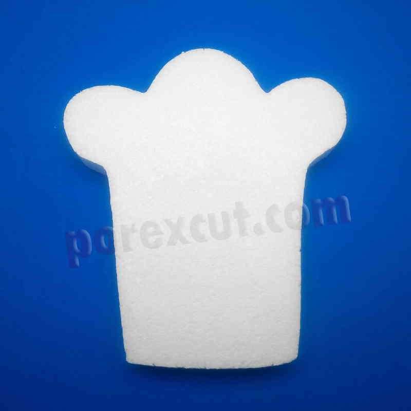 gorro cocinero de porexpan poliespan corcho blanco