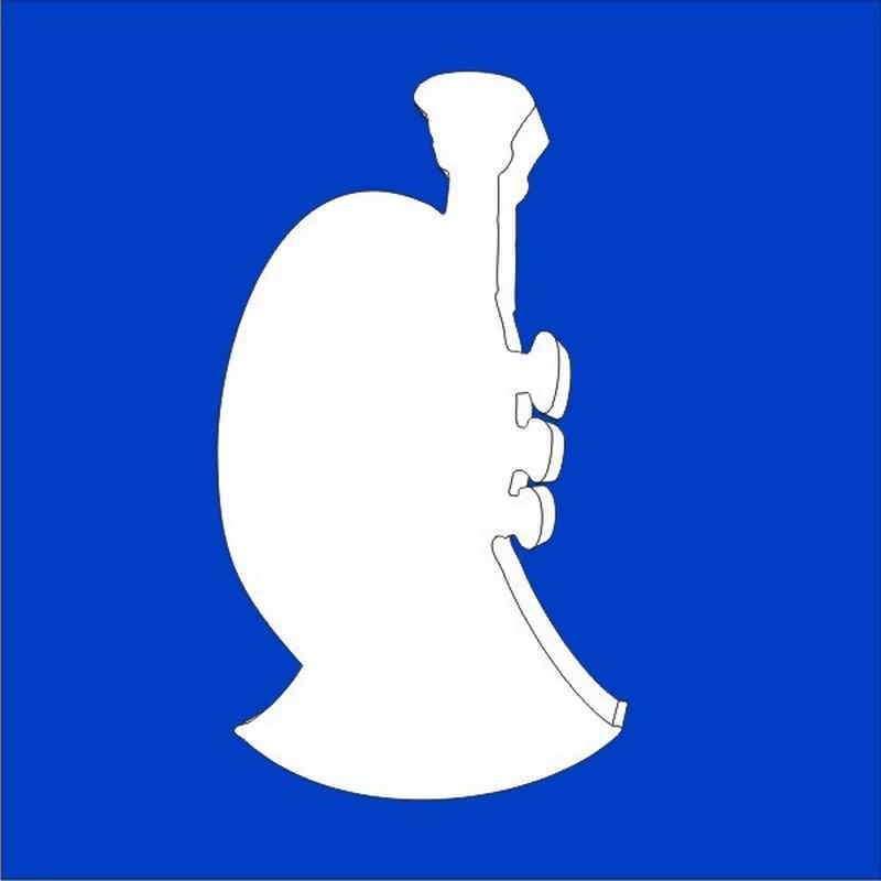trompeta de porexpan poliespan corcho blanco