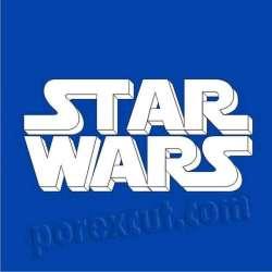 star wars logo de porexpan poliespan corcho blanco