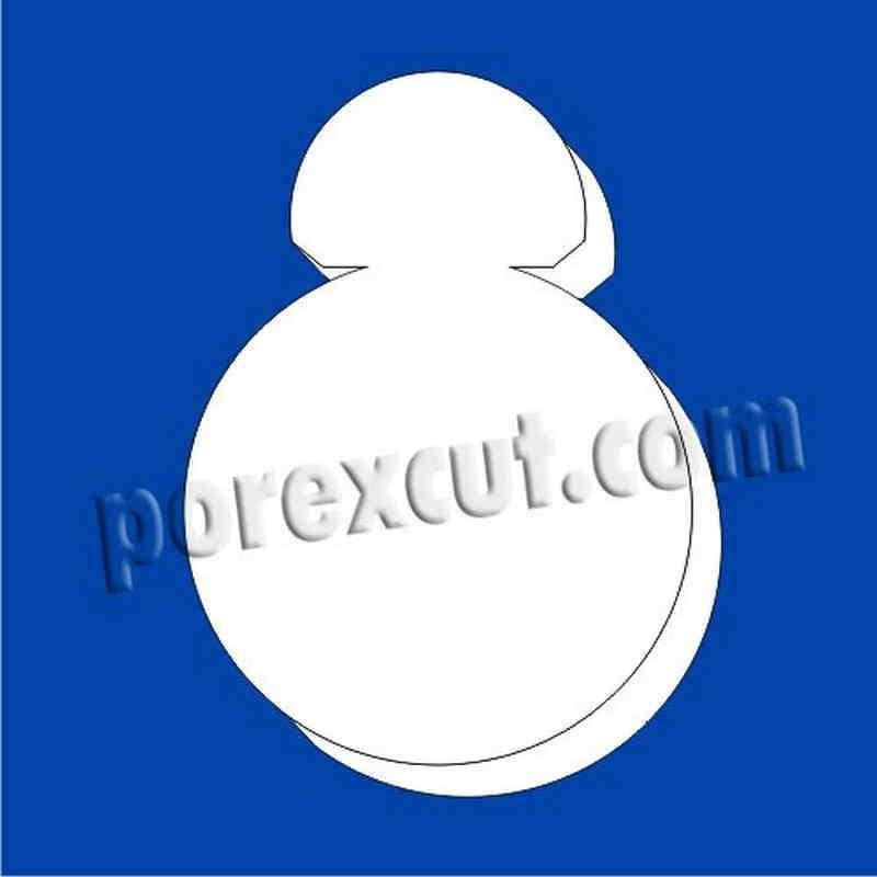 bb-8 de porexpan poliespan corcho blanco