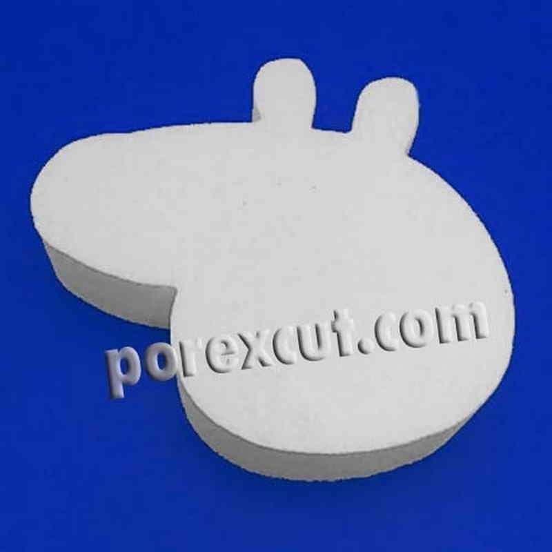 peppa pig sin cuello de porexpan poliespan corcho blanco