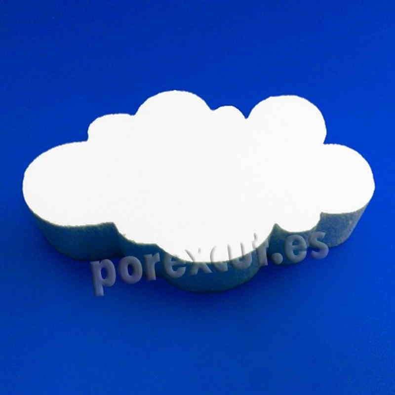 nube de porexpan poliespan corcho blanco