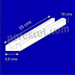 Base de 55,5 cms de largo