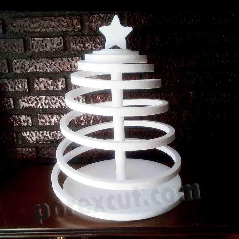 Arbol de navidad de porexpan corcho blanco poliespan abeto