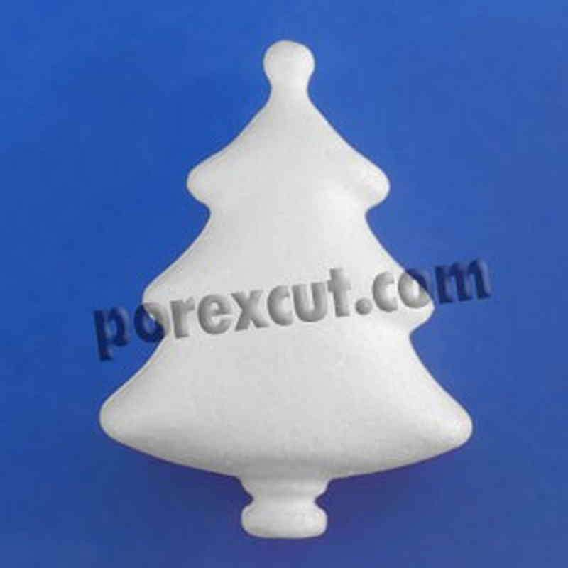 Arbol de navidad de porexpan corcho blanco poliespan abeto pino porex