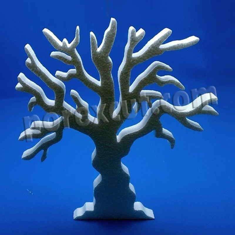 Arbol de navidad halloween porexpan corcho blanco poliespan abeto pino porex