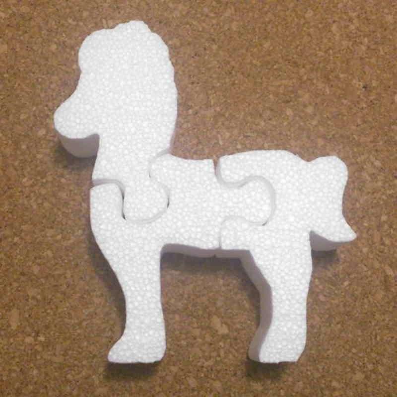 caballo puzzle de porexpan poliespan corcho blanco porex porexcut