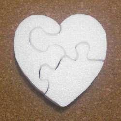 corazon puzzle de porexpan poliespan corcho blanco porex porexcut