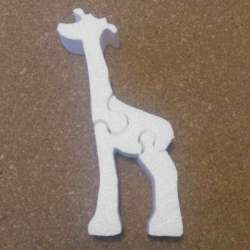 Jirafa puzzle porexpan poliespan corcho blanco porex porexcut