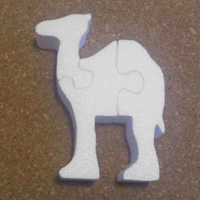Camello de porexpan para decoración poliespan corcho blanco porex porexcut