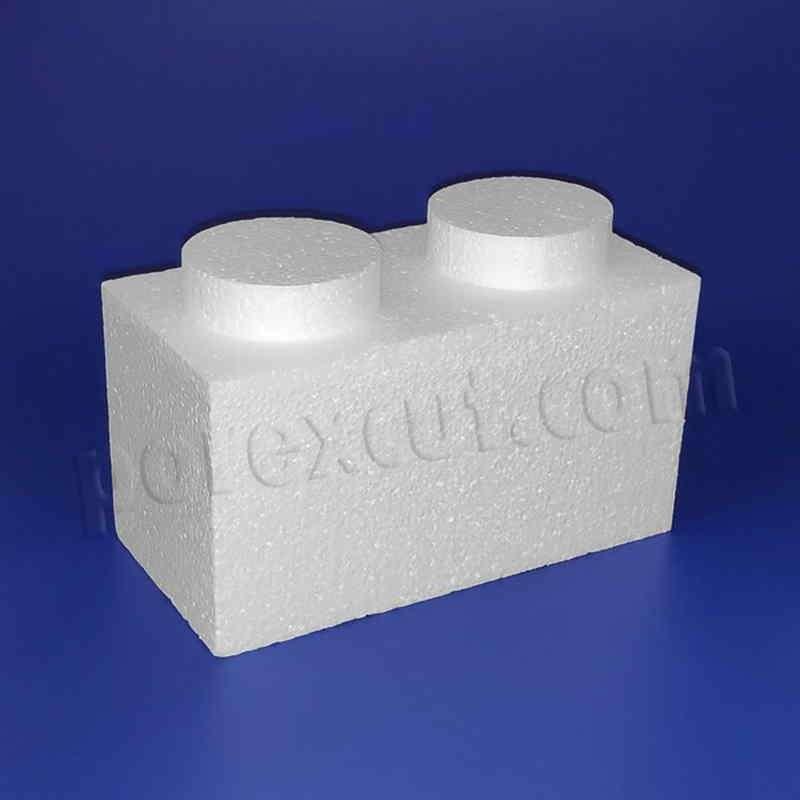 Pieza 1x 2 elevada tipo lego de porexpan poliespan corcho blanco porex porexcut