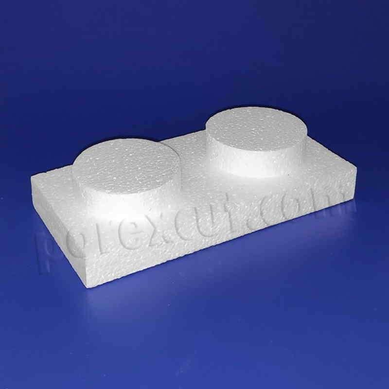 Pieza 1x 2 fina tipo lego de porexpan poliespan corcho blanco porex porexcut
