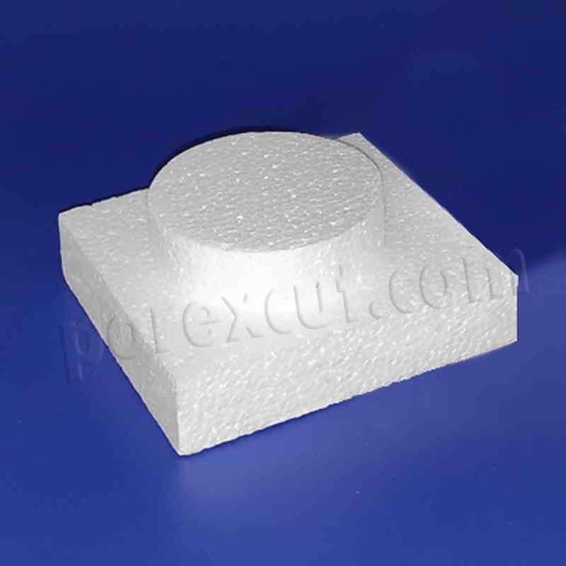Pieza 1x1 fina tipo lego de porexpan poliespan corcho blanco porex porexcut