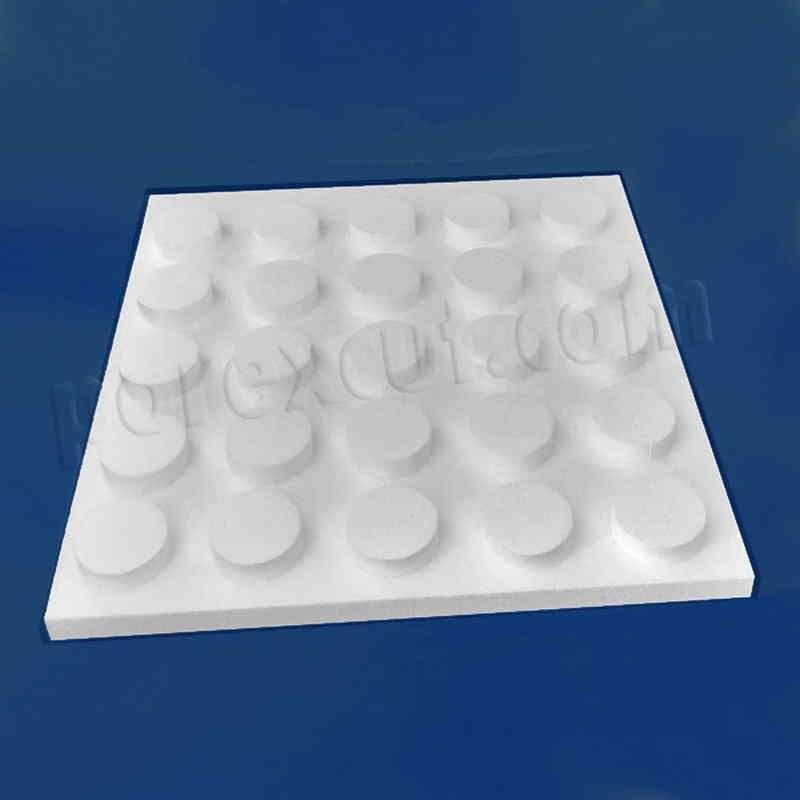 Placa 5x5 elevada tipo lego de porexpan poliespan corcho blanco porex porexcut