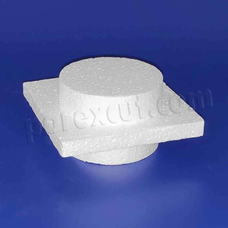 Pieza 1x1 fina doble tipo lego de porexpan poliespan corcho blanco porex porexcut