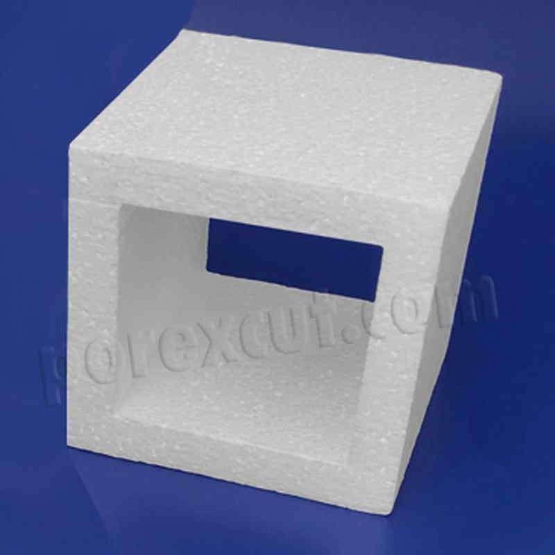 Pieza 1x1 hueca tipo lego de porexpan poliespan corcho blanco porex porexcut