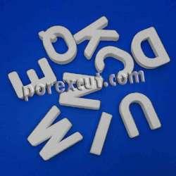 Abecedario de porexpan corcho blanco porex poliespan