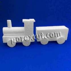 Tren porexpan poliespan corcho corcho blanco