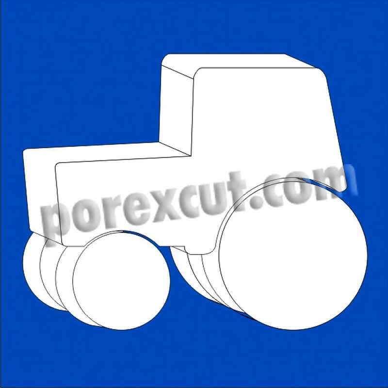 Tractor porexpan poliespan corcho corcho blanco