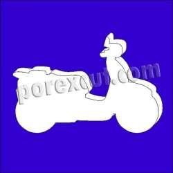 Motocicleta porexpan poliespan corcho corcho blanco