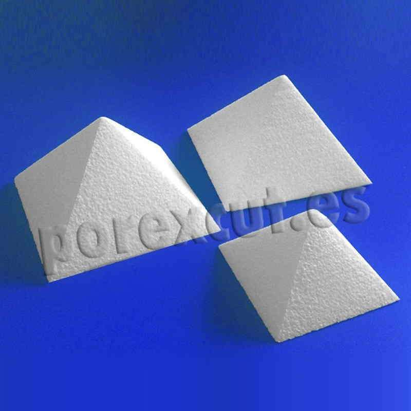 Piramide porexpan poliespan corcho corcho blanco