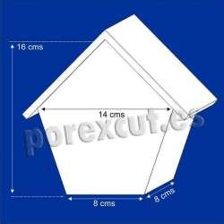 Casa maciza porexpan poliespan corcho corcho blanco