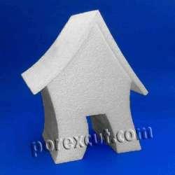 Casa doblada porexpan poliespan corcho corcho blanco