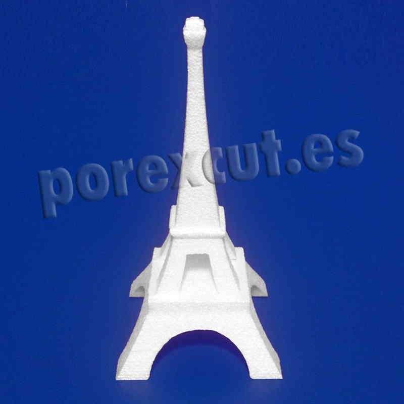 Torre Eiffel porexpan poliespan poliestireno expandido corcho blanco