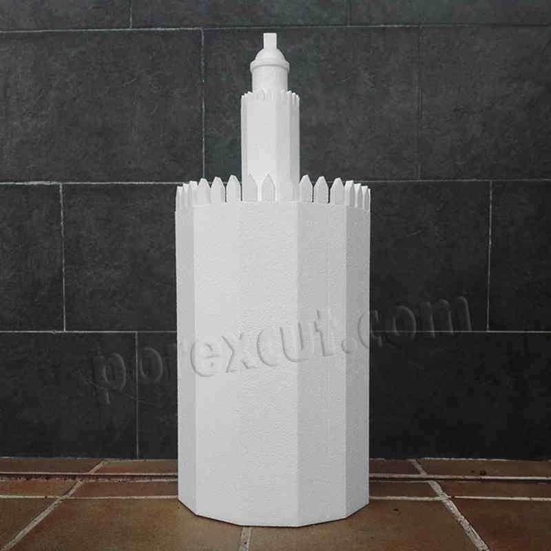 Torre Oro porexpan poliespan corcho corcho blanco