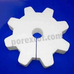 Engranaje agujero porexpan poliespan corcho corcho blanco