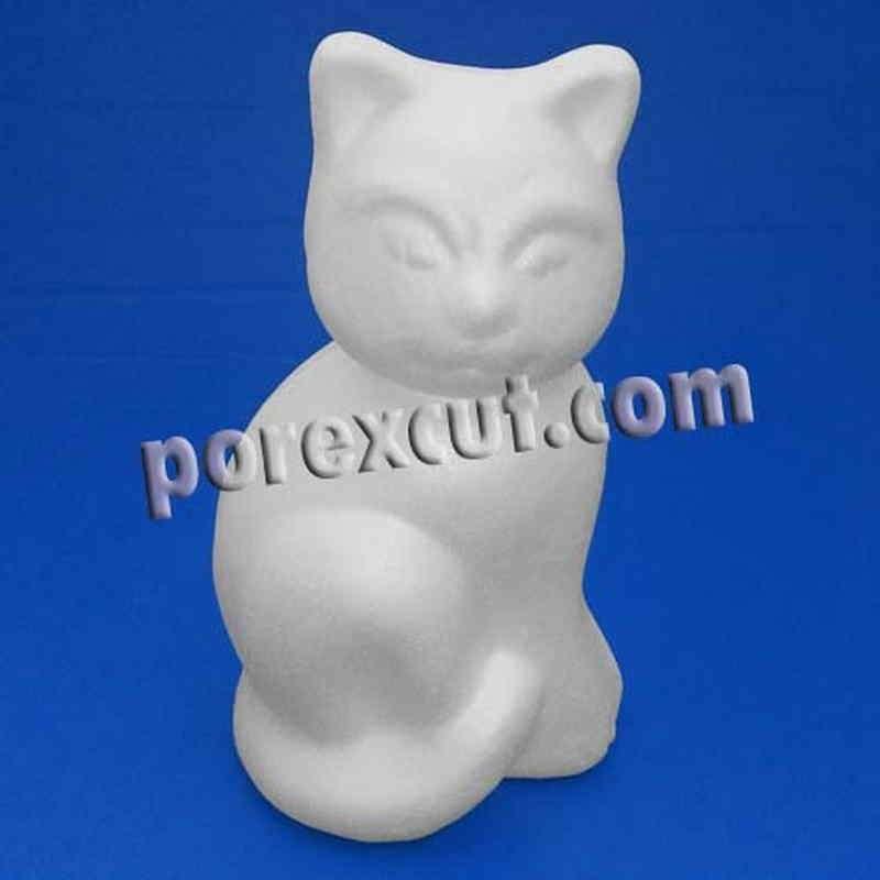 Gato pequeño porexpan poliespan corcho corcho blanco