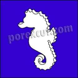 Caballito mar porexpan poliespan corcho corcho blanco