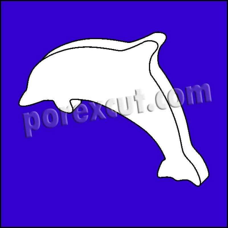 Delfin porexpan poliespan corcho corcho blanco