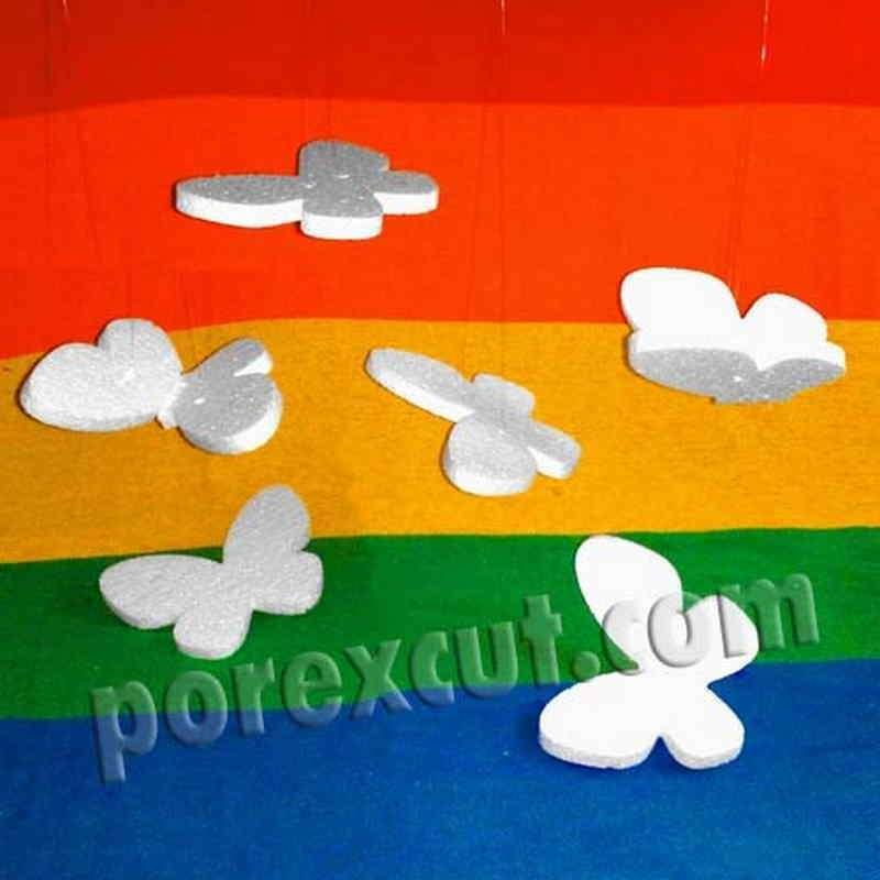Mariposas porexpan poliespan corcho corcho blanco