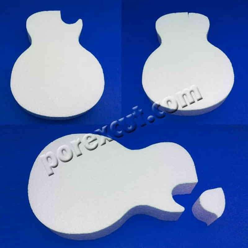 Guitarra porexpan poliespan corcho corcho blanco