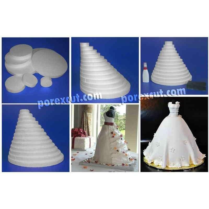 Piramide circulos porexpan poliespan corcho corcho blanco